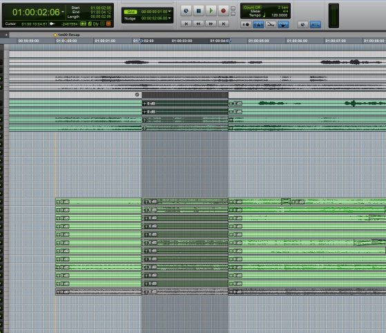 Step 3, move your selection to where you want to make the edit. In this case I wanted to make it earlier before all the edits I created to smoothly transition into the next cue.