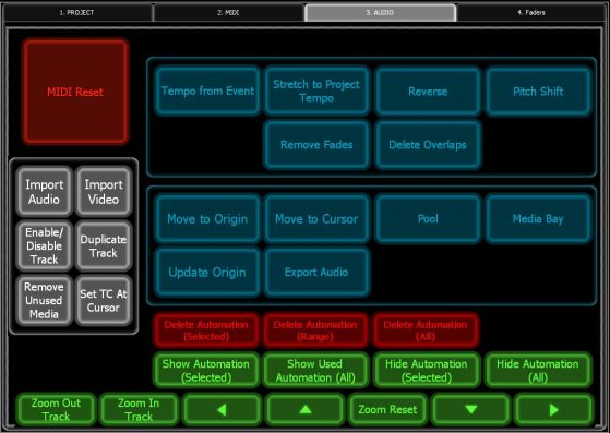 Screenshot of my Lemur AUDIO page, where I have all my audio-related shortcuts.