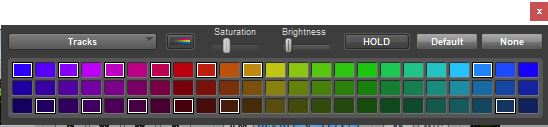 The color palette showing all the colors used so it's easy for me to see which swatches I'm using.