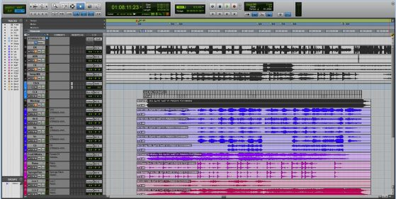 Here is the same cue but prepared properly. First you'll notice I name the tracks for clarity. Next you'll notice I repeat the name in the comments field along with the stem I want this track printed on, and they are color coded. Finally I printed the click and it stops on the very last beat, so I'm not relying on a live click.